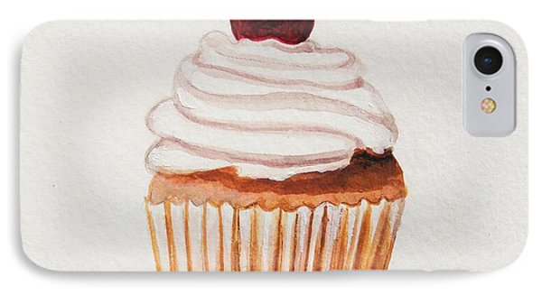 Cupcake With A Cherry On Top Please IPhone Case by Elizabeth Robinette Tyndall