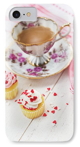 IPhone Case featuring the photograph Cupcakes And Coffee by Rebecca Cozart