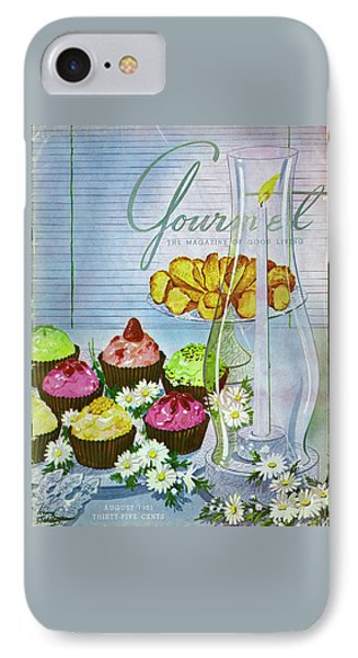 Cupcakes And Gaufrettes Beside A Candle IPhone Case by Henry Stahlhut