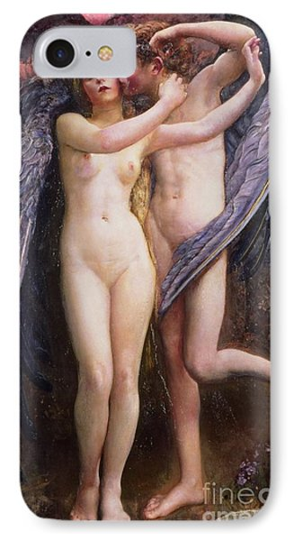 Cupid And Psyche IPhone Case by Annie Louisa Swynnerton