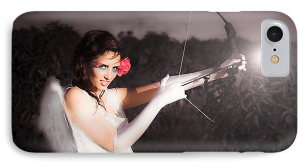 Cupid With Bow And Rose Arrow IPhone Case by Jorgo Photography - Wall Art Gallery