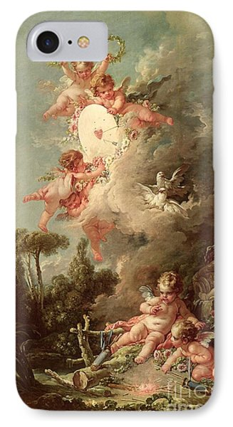 Cupids Target IPhone Case by Francois Boucher
