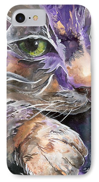IPhone Case featuring the painting Curiosity by Sherry Shipley