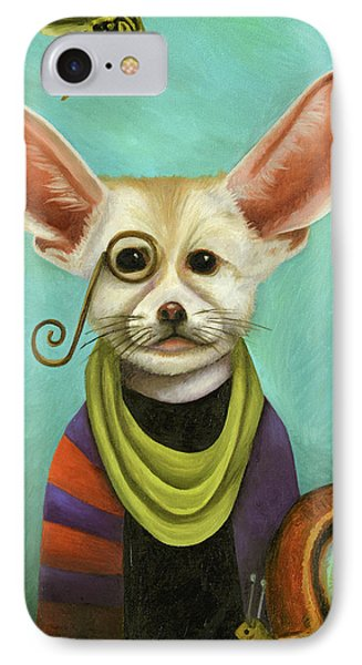 Curious As A Fox IPhone Case by Leah Saulnier The Painting Maniac