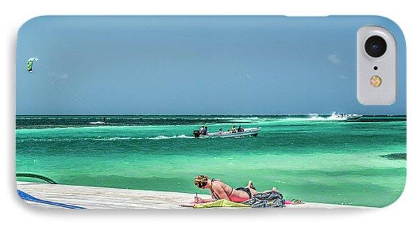 Curious Bikini Clad  Sunbather IPhone Case