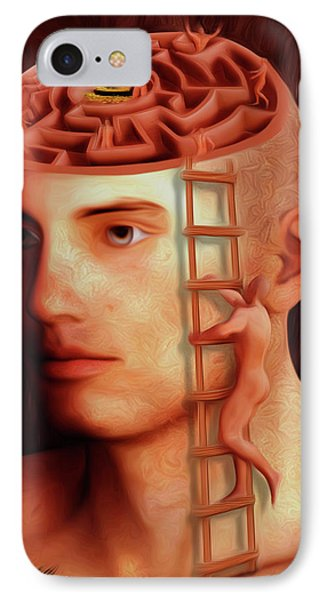 Brain Freeze iPhone 7 Case - Curious Mind by Surreal Photomanipulation
