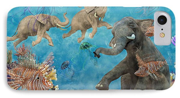 Curious Ocean IPhone Case by Betsy Knapp