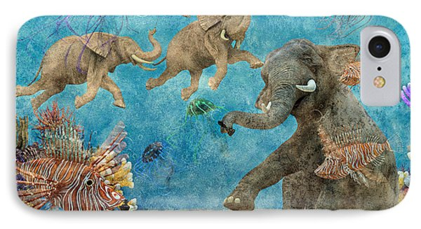 Curious Ocean Textured IPhone Case by Betsy Knapp