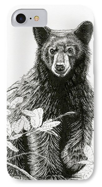 Curious Young Bear IPhone Case