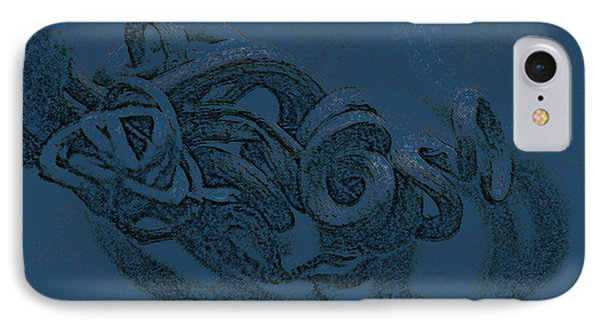 IPhone Case featuring the digital art Curly Swirly by Kim Henderson
