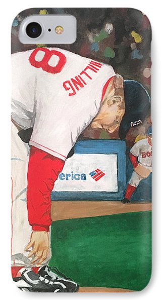 Curt Schilling And The Bloody Sock IPhone Case by Cailin Koy