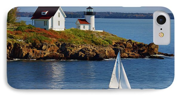 Curtis Island Lighthouse - D002652b IPhone Case by Daniel Dempster