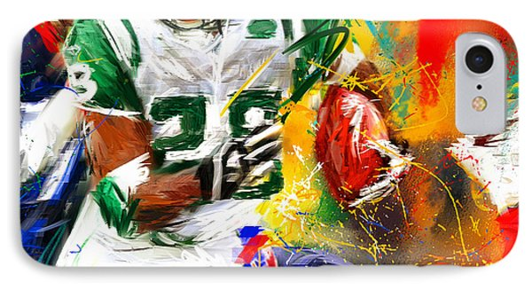 Curtis Martin New York Jets IPhone Case by Lourry Legarde