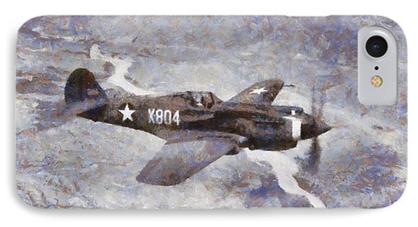 Curtiss P-40 In Flight Wwii IPhone Case by Esoterica Art Agency
