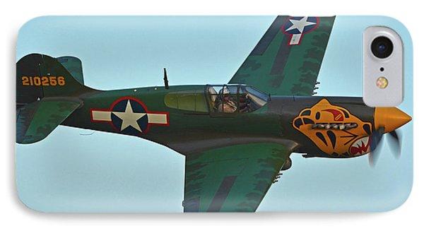 IPhone Case featuring the photograph Curtiss P-40k Warhawk N401wh Chino California April 29 2016 by Brian Lockett
