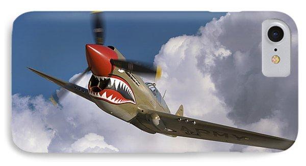 Curtiss P-40n Warhawk IPhone Case by Larry McManus