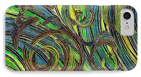Curved Lines 4 Phone Case by Sarah Loft