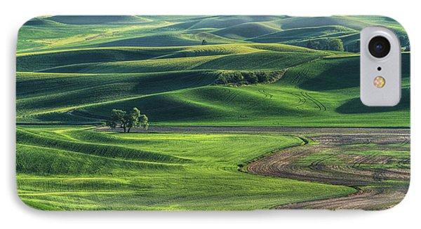 Curves Of The Palouse IPhone Case by Mark Kiver