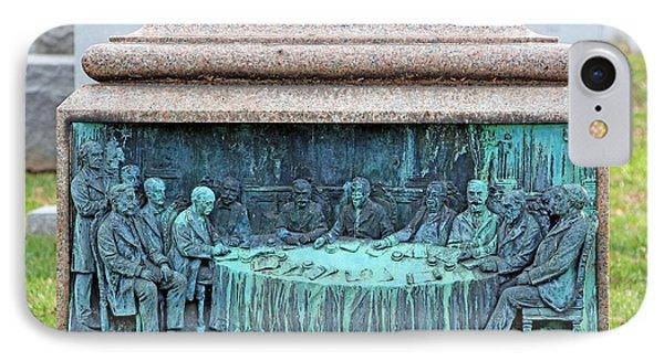 Cushman Kellogg Davis Bas Relief Sculpture IPhone Case