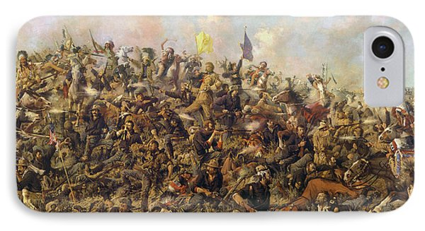 Custer's Last Stand From The Battle Of Little Bighorn IPhone Case by Edgar Samuel Paxson