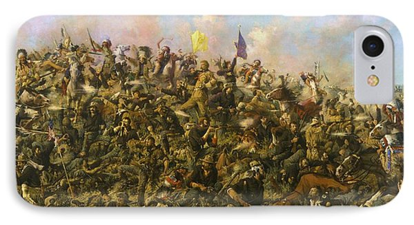 Custer's Last Stand Phone Case by Pg Reproductions