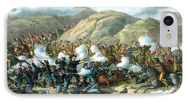 Custer's Last Stand IPhone Case by War Is Hell Store