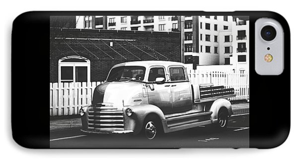 IPhone Case featuring the photograph Custom Chevy Asbury Park Nj Black And White by Terry DeLuco