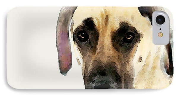 Custom Great Dane Art IPhone Case by Sharon Cummings
