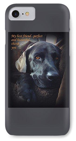 Custom Paw Print Midnight My Best Friend IPhone Case