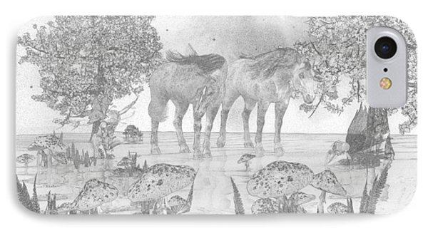 Custom Sketch 47 IPhone Case by Betsy Knapp