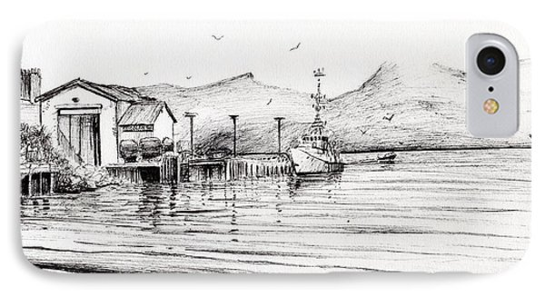 Customs Boat At Oban IPhone Case by Vincent Alexander Booth