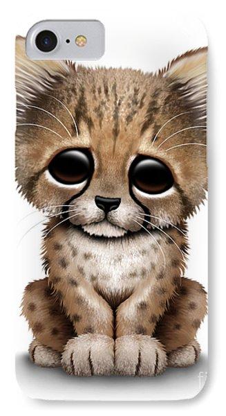 Cute Baby Cheetah Cub IPhone Case by Jeff Bartels