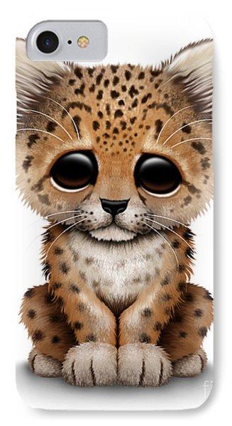 Cute Baby Leopard Cub IPhone Case by Jeff Bartels