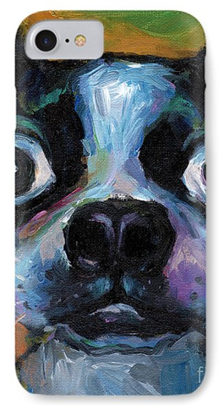 Cute Boston Terrier Puppy Art IPhone 7 Case