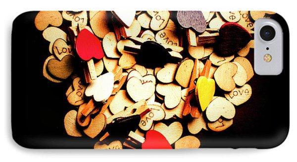 Cute Button Love IPhone Case