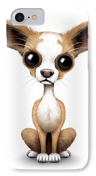 Cute Chihuahua Puppy  IPhone Case by Jeff Bartels