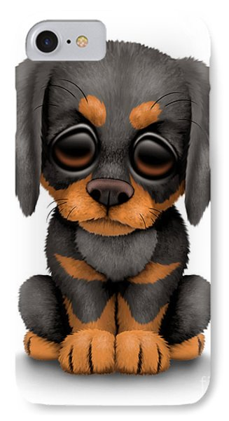 Cute Doberman Puppy Dog IPhone Case by Jeff Bartels