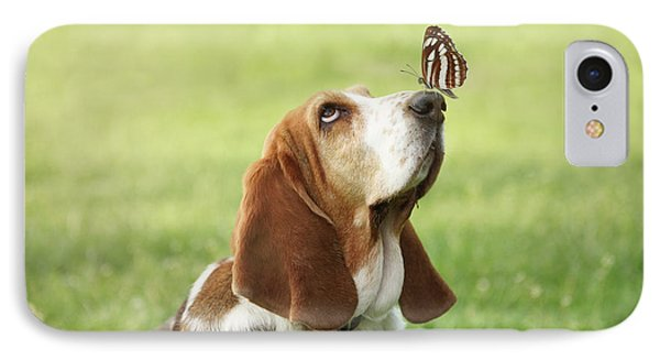 Cute Dog With Butterfly On His Nose IPhone Case