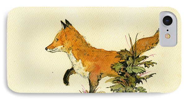 Cute Fox In The Forest IPhone 7 Case by Juan  Bosco