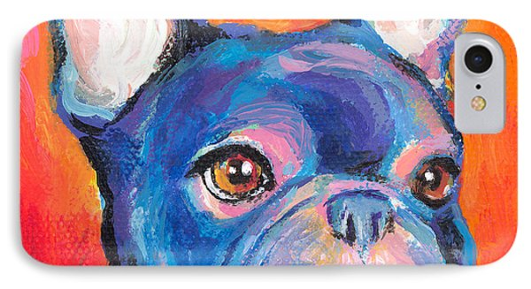 Cute French Bulldog Painting Prints IPhone 7 Case by Svetlana Novikova