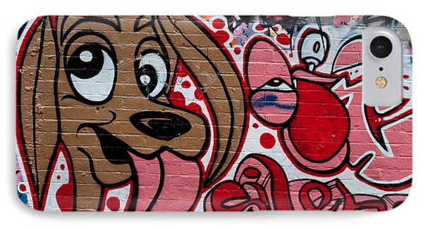 IPhone Case featuring the painting Cute Graffiti Dog by Yurix Sardinelly