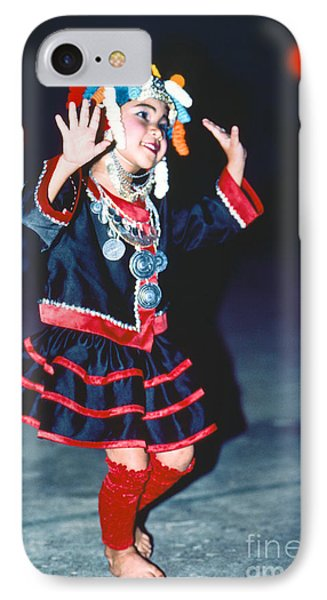 IPhone Case featuring the photograph Cute Little Thai Girl Dancing by Heiko Koehrer-Wagner