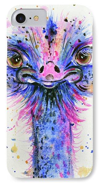 Cute Ostrich IPhone Case by Zaira Dzhaubaeva