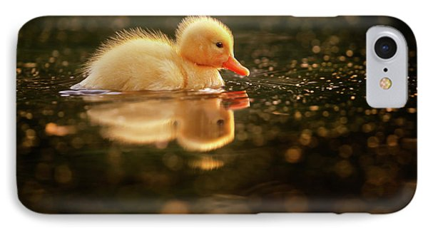 Cute Overload Series - Baby Duck IPhone Case by Roeselien Raimond