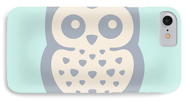 Cute Owl IPhone Case by Julia Jasiczak