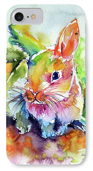IPhone Case featuring the painting Cute Rabbit by Kovacs Anna Brigitta