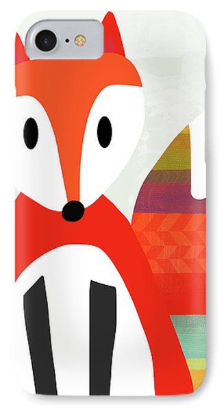 Cute Red Fox 2- Art By Linda Woods IPhone Case
