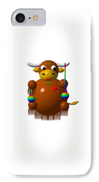 Cute Yak With Yo Yos IPhone Case by Rose Santuci-Sofranko