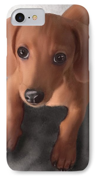 Cutest Pup Ever IPhone Case by Sannel Larson