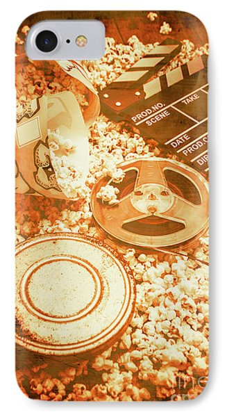Cutting A Scene Of Vintage Film IPhone Case by Jorgo Photography - Wall Art Gallery